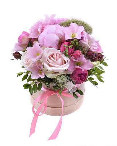 Цветы в коробке Сантакара
